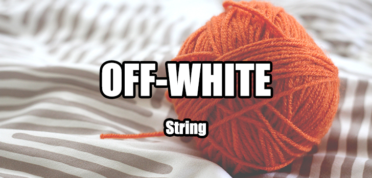 OFF-WHITEのタグに付いてる紐は外す?外さない?どっちが正解なのかの冒頭画像